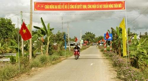 2016年茶荣省力争新增八个乡达到新农村建设标准 hinh anh 1