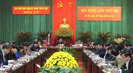 越南河内市对第十四届国会和2016-2021年任期各级人民议会代表换届选举做好准备 hinh anh 1