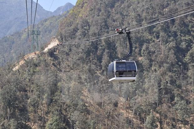 番西邦-沙坝缆车系统共为4万多人次提供服务 hinh anh 1