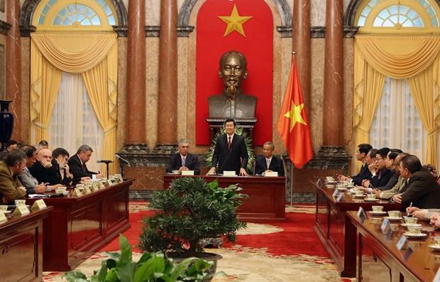 越南国家主席张晋创会见世界工联秘书长乔治•马瑞克斯 hinh anh 1