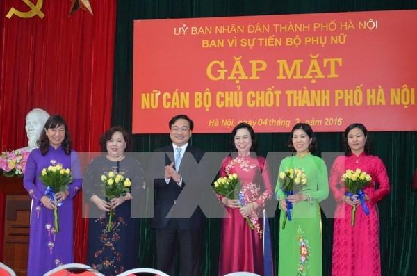 河内市委书记黄忠海:妇女已为首都发展做出重要贡献 hinh anh 1