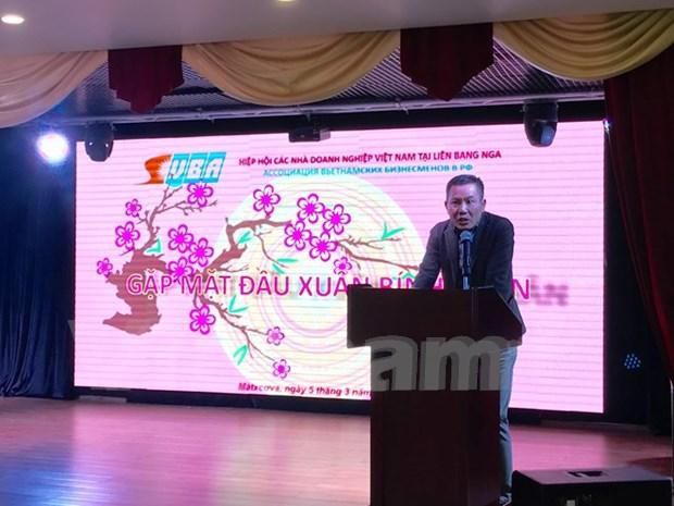 俄罗斯越南企业协会举行2016年新年见面会 hinh anh 1