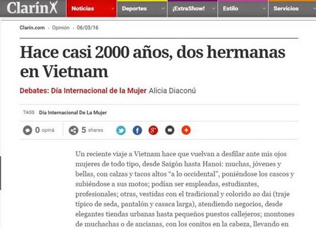 阿根廷媒体称赞越南妇女形象 hinh anh 1