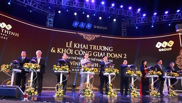 王廷惠同志出席FLC永盛度假村开业仪式 hinh anh 1