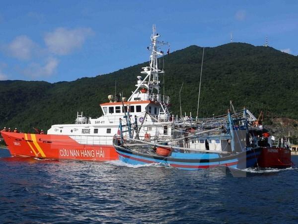 越南海警成功营救在黄沙渔场遇险的22名渔民 hinh anh 1
