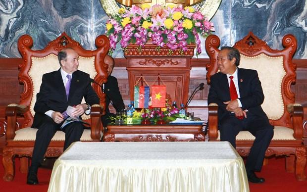 越南最高人民法院院长张和平会见阿塞拜疆司法部长马马多夫 hinh anh 1