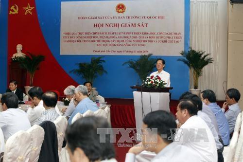 阮晋勇总理:努力促进科技发展把科技应用于九龙江平原实践 hinh anh 1