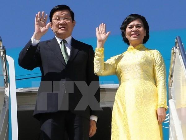 越南国家主席张晋创对坦桑尼亚进行国事访问 hinh anh 1