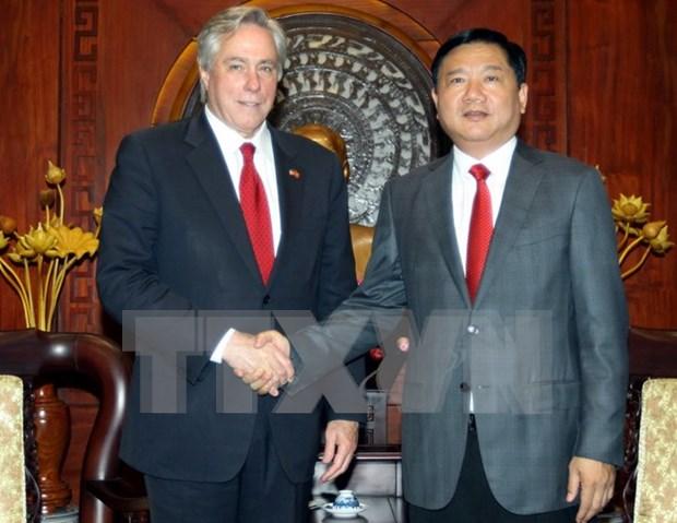 胡志明市领导人会见美国国务院高级顾问 hinh anh 1
