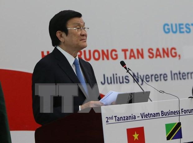 越坦发表联合公报 深信两国合作关系将继续在各个合作领域蓬勃发展 hinh anh 4