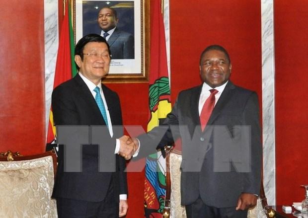 越南与莫桑比克发表联合公报 hinh anh 1