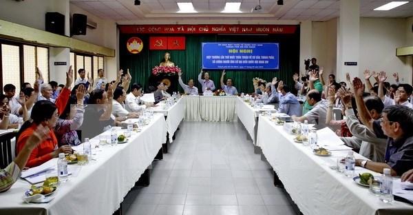胡志明市第十四届国会及各级人民议会代表自荐候选人78名 hinh anh 1