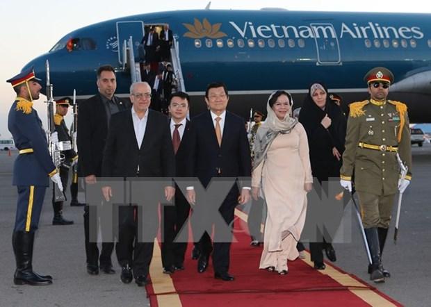 越南国家主席张晋创开始对伊朗进行国事访问 hinh anh 1