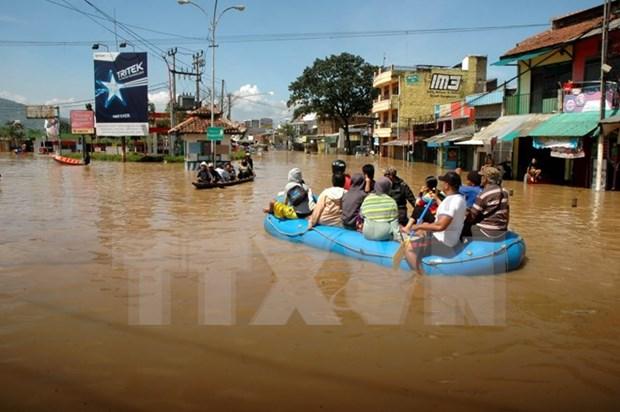 印尼洪水泛滥 3000多人流离失所 hinh anh 1