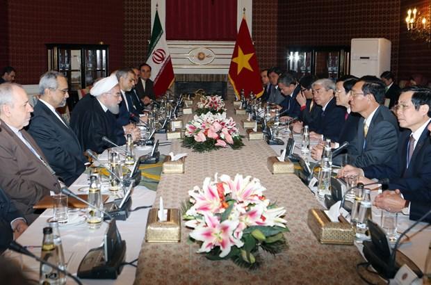越南国家主席张晋创与伊朗总统哈桑·鲁哈尼举行会谈 hinh anh 3