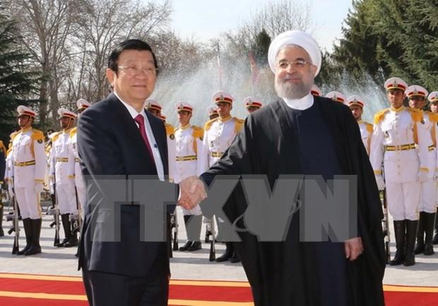 越南国家主席张晋创与伊朗总统哈桑·鲁哈尼举行会谈 hinh anh 2