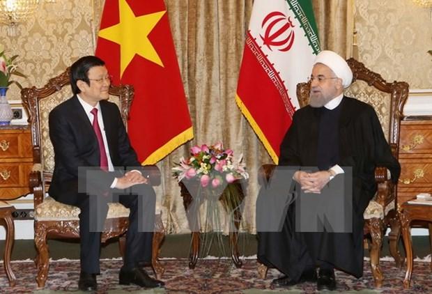 越南国家主席张晋创与伊朗总统哈桑·鲁哈尼举行会谈 hinh anh 1
