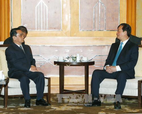 越南政府总理阮晋勇会见老挝政府总理通辛·坦马冯 hinh anh 1