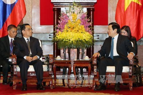 越南国家主席张晋创会见老挝总理通辛·坦马冯 hinh anh 1