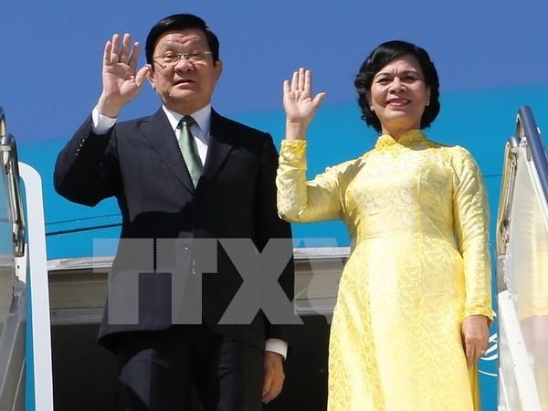 越南国家主席张晋创会见伊朗最高领袖哈梅内伊 hinh anh 1