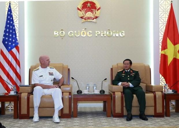 越南人民军队总参谋长杜伯巳大将会见美国太平洋舰队司令 hinh anh 1