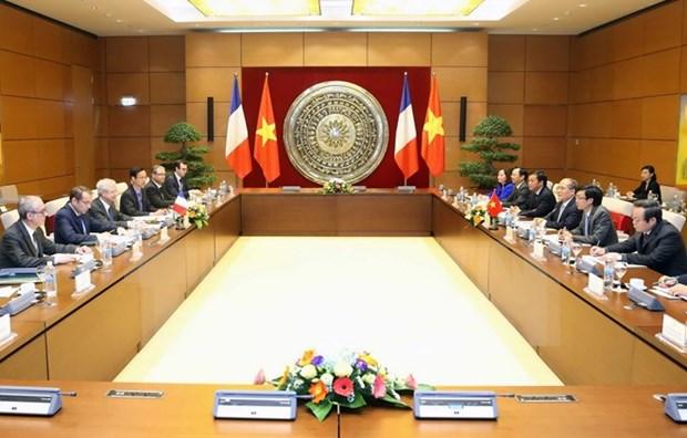 越南国会主席阮生雄与法国国民议会议长巴尔托洛内举行会谈 hinh anh 1