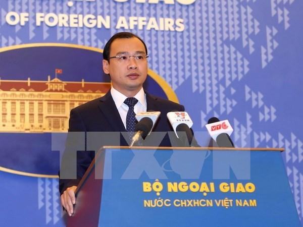 越南外交部发言人:越南坚决反对中国最近在黄沙群岛展开的行动 hinh anh 1