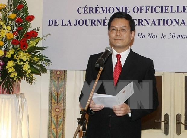 法国国民议会议长巴尔托洛内出席2016年法语国际日纪念活动 hinh anh 1