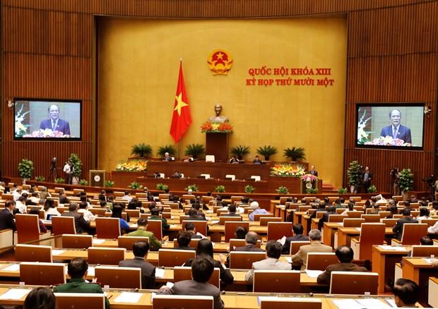 越南第十三届国会第十一次会议发表第一号公报 hinh anh 1
