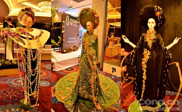 越南传统长衣上的鲜花设计比赛推崇越南传统长衣之美的良机 hinh anh 1
