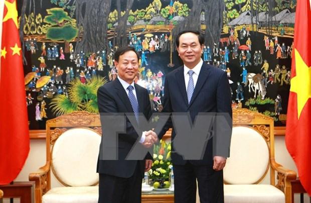越南公安部长陈大光大将会见中国公安部副部长孟庆丰一行 hinh anh 1