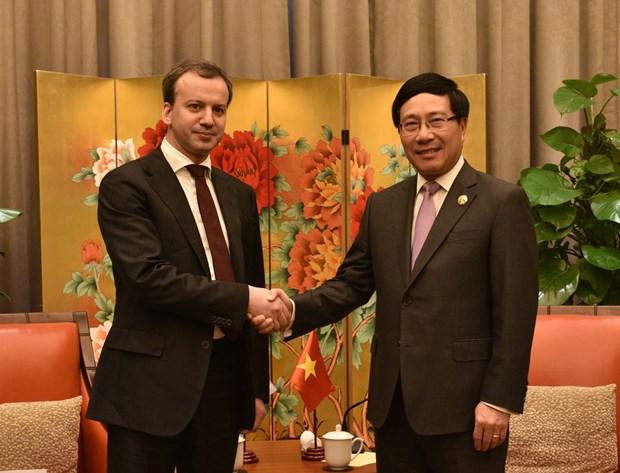 范平明副总理会见中国国务院总理李克强和俄罗斯副总理德沃尔科维奇 hinh anh 3