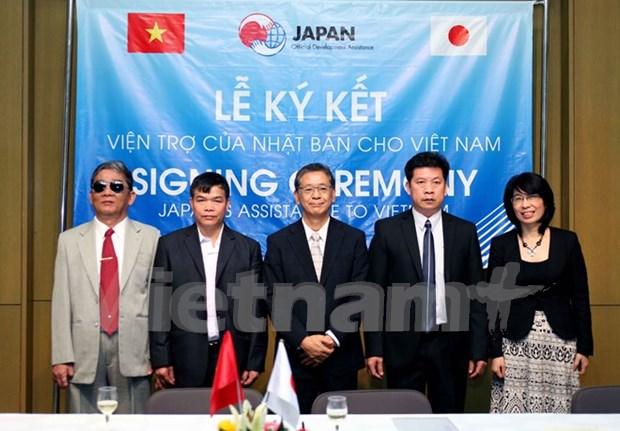 日本资助40多万美元改善越南困难地区交通与教学和学习条件 hinh anh 1