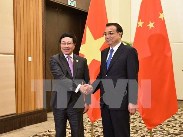 范平明副总理会见中国国务院总理李克强和俄罗斯副总理德沃尔科维奇 hinh anh 1