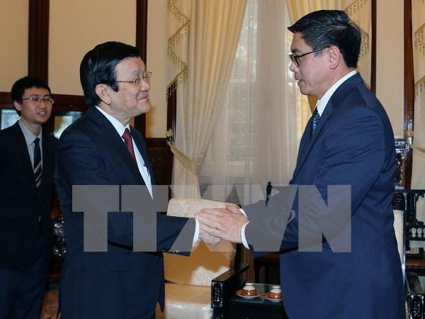 越南国家主席张晋创会见外国客人 hinh anh 2