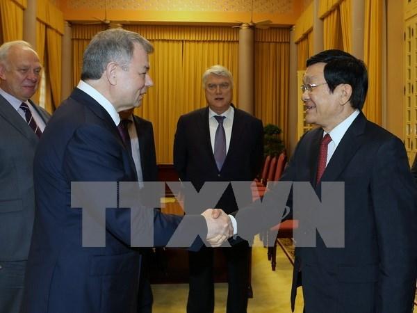 越南国家主席张晋创会见外国客人 hinh anh 1