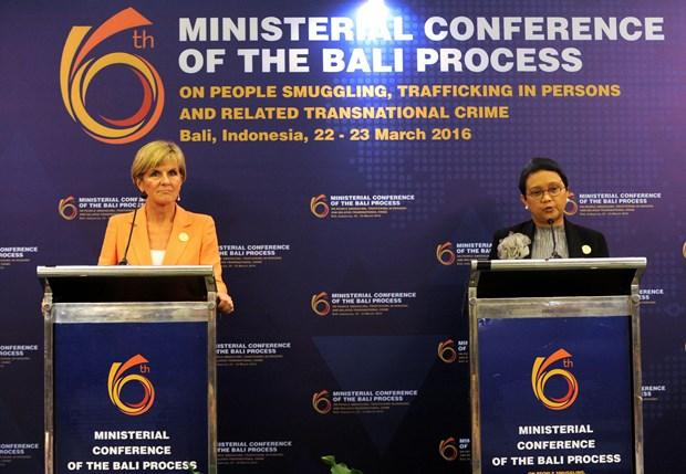 第六届打击走私、拐卖人口及跨国犯罪部长级会议在印度尼西亚举行 hinh anh 1