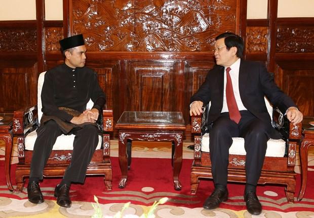 越南国家主席张晋创接受四国新任驻越大使递交国书 hinh anh 4