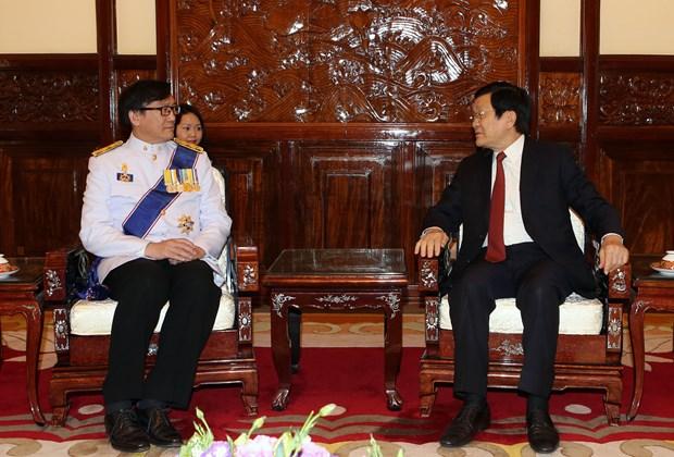 越南国家主席张晋创接受四国新任驻越大使递交国书 hinh anh 1