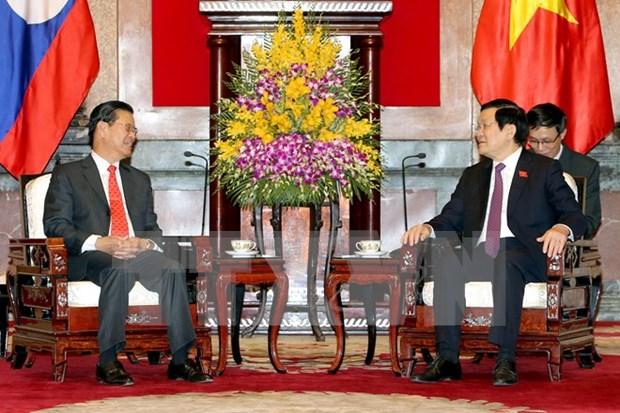 越南国家主席张晋创会见老挝政府副总理宋沙瓦·凌沙瓦 hinh anh 1