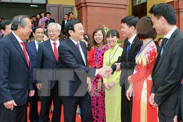 越南国家主席张晋创出席法院学院建院决定书发放仪式 hinh anh 1