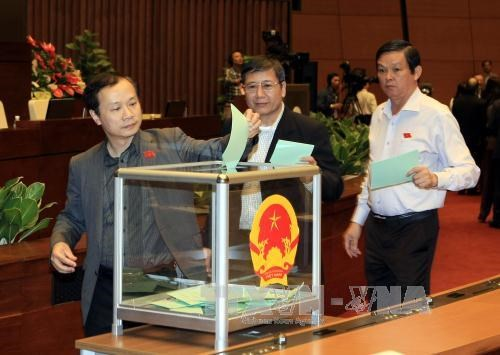 国会同意免去张晋创的国家主席职务 hinh anh 1