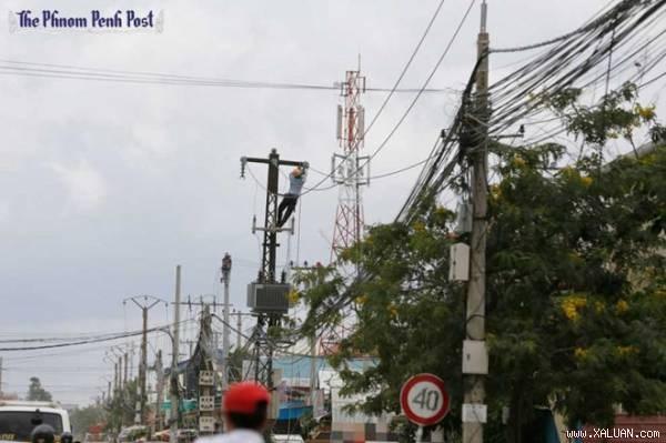 柬埔寨与中国合作扩建柬埔寨农村电网 hinh anh 1