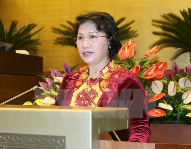国会代表对首位女国会主席充满信心 hinh anh 1