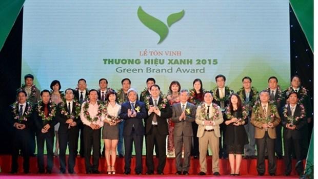 """越南50家企业获""""2015年绿色商标""""殊荣 hinh anh 1"""