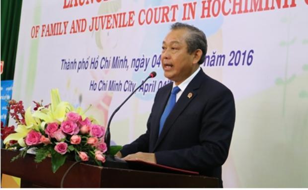 胡志明市家庭与未成年人法庭正式成立 hinh anh 1