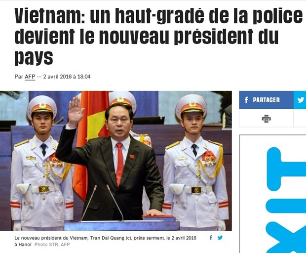 外媒大篇幅报道陈大光当选越南新一任国家主席 hinh anh 1