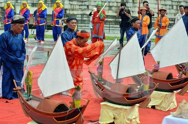 李山岛县举行黄沙戍边军犒军仪式 hinh anh 1