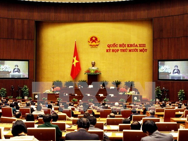越南国会投票选举国会副主席和国会常务委员会委员 hinh anh 1