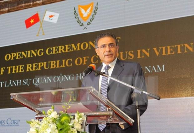 塞浦路斯共和国驻越南领事馆正式揭牌 hinh anh 1